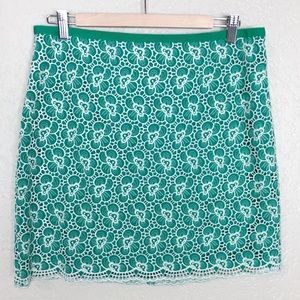 EUC J. Crew Flounce skirt with floral embroidery